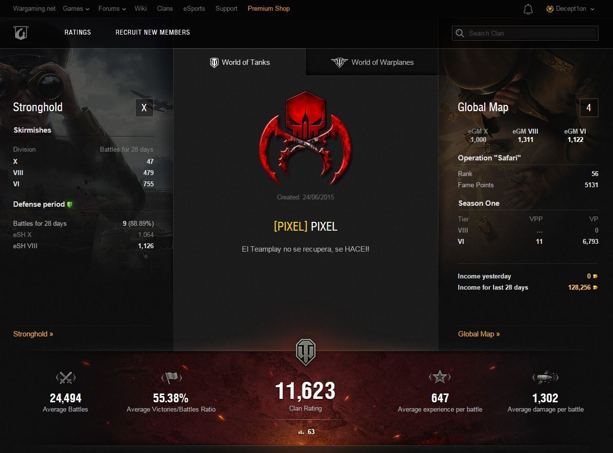 Updated Clan Profile Statistics | Clans | World of Tanks