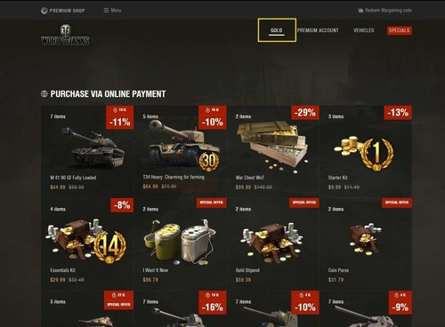 Premium Shop Instructions | Guide | World of Tanks
